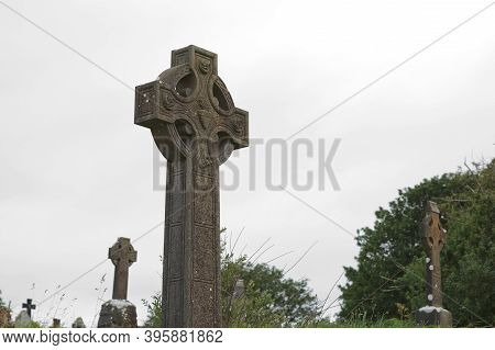 Crosses And Cementery In Bantry, West Cork, Ireland