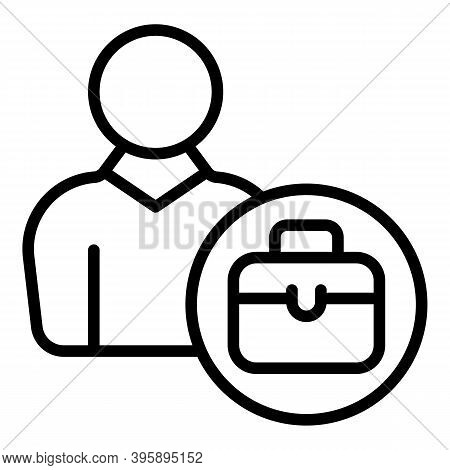 Mentor Suitcase Icon. Outline Mentor Suitcase Vector Icon For Web Design Isolated On White Backgroun