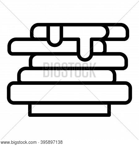 Chocolate Paste Sandwich Icon. Outline Chocolate Paste Sandwich Vector Icon For Web Design Isolated