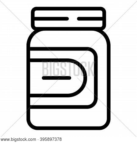 Chocolate Paste Cream Icon. Outline Chocolate Paste Cream Vector Icon For Web Design Isolated On Whi