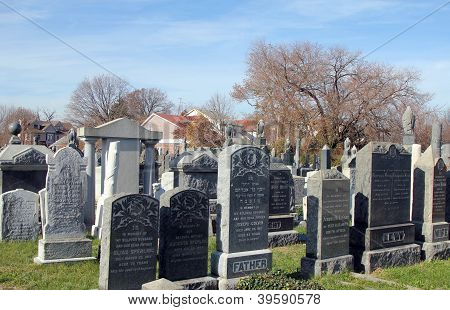 Tombstones at the  Jewish cemetery