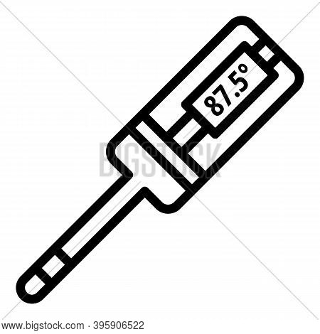 Medical Digital Thermometer Icon. Outline Medical Digital Thermometer Vector Icon For Web Design Iso