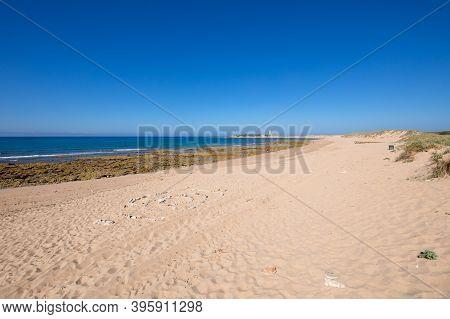 Landscape Of Wild Varadero Beach And Trafalgar Cape In Cadiz