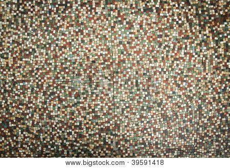 Old Fashioned Small Tiles Background
