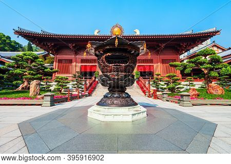 Chi Lin Nunnery Is A Buddhist Temple Complex Located In Diamond Hill, Kowloon Region Of Hong Kong In