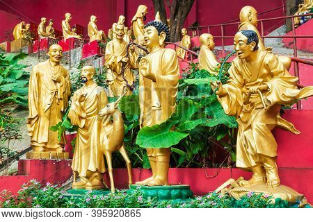 Ten Thousand Buddhas Monastery Or Man Fat Sze Is A Buddhist Temple Located In Sha Tin In Hong Kong,