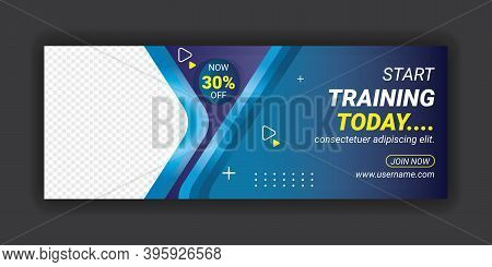 Fitness & Gym Center Social Media L Facebook Cover Template. Health Care Body Building Advertisement