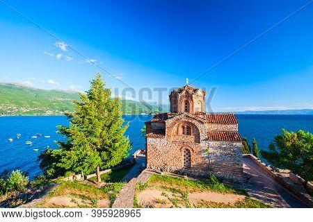 Saint John At Kaneo Is A Macedonian Orthodox Church Near Kaneo Beach Of Lake Ohrid In Ohrid City, No