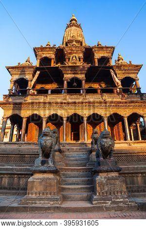 Krishna Mandir Or Krishna Temple At Patan Durbar Square In Lalitpur Or Patan City Near In Kathmandu