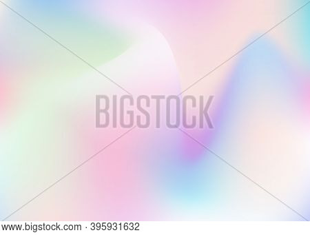 Holographic Abstract Background. Trendy Holographic Backdrop With Gradient Mesh. 90s, 80s Retro Styl