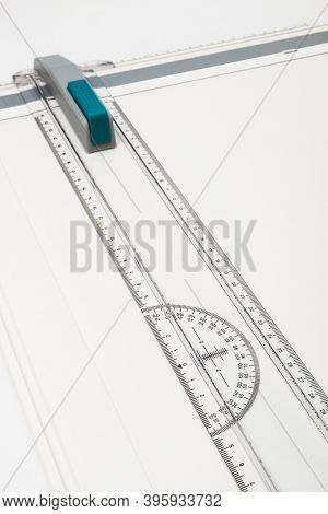 new drawing board on a white background