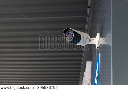 Security Cctv Camera Surveillance System Outdoor Of House.