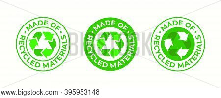 Recycling Icon, Made Of Recycled Materials, Vector, Recyclable Package Sign. Green Eco Bio Recycled