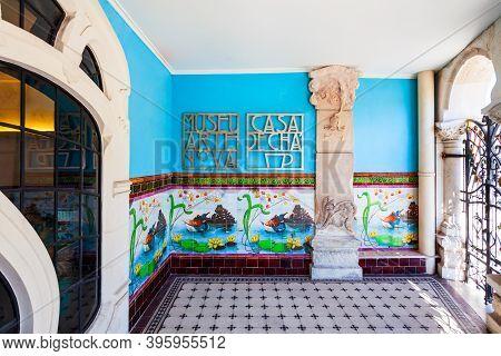Aveiro, Portugal - July 02, 2014: Museum Of Art Nouveau Or Casa De Cha Museu De Arte Nova In Aveiro