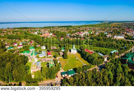 Saviors Cathedral Aerial Panoramic View In Pereslavl Zalessky Or Pereslavl-zalessky, Golden Ring Of