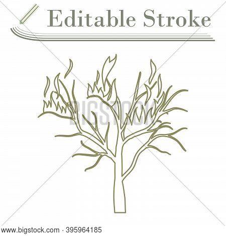 Wildfire Icon. Editable Stroke Simple Design. Vector Illustration.