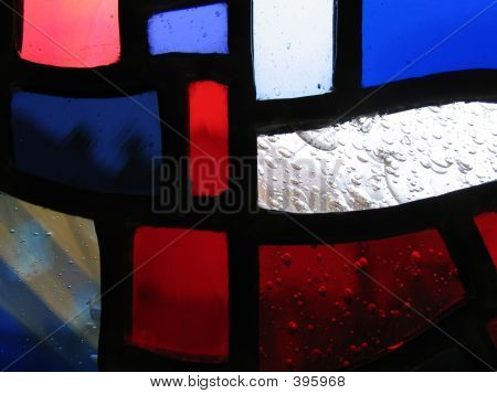 Closeup Of Handmade Stained Glass