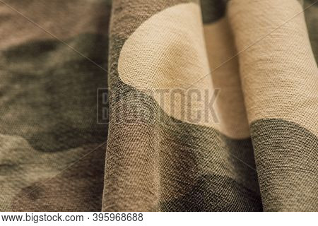 Camouflage Fabric Texture. Material For Designers Camouflage Fabric Background