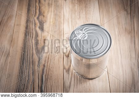 Tin Can. Conserved Junk Food Without Label