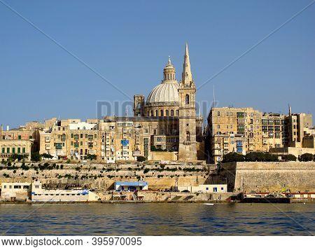 Valletta, Malta - 18 Jul 2011: The View On Ancient City Valletta, Malta