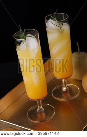 Pear Sparkler - Fall Drinks