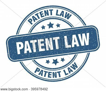 Patent Law Stamp. Patent Law Label. Round Grunge Sign