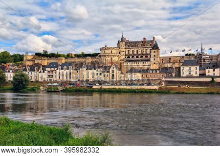 Chateau D`amboise, France. This Royal Castle Is Located In Amboise In The Loire Valley, Was Built In