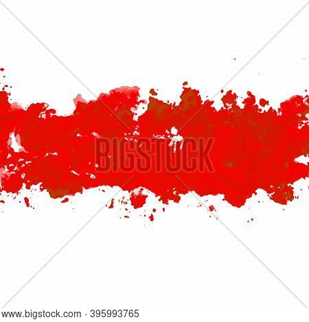 Belarus Watercolor Protest Symbol White-red-white Flag Icon. Hand Drawn Illustration, Dry Brush Stai