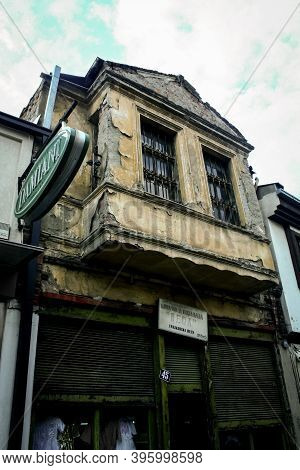Skopje, Macedonia - September 19, 2009: Abandoned Decaying Storefront Of A Shop In The Skopje Bazaar