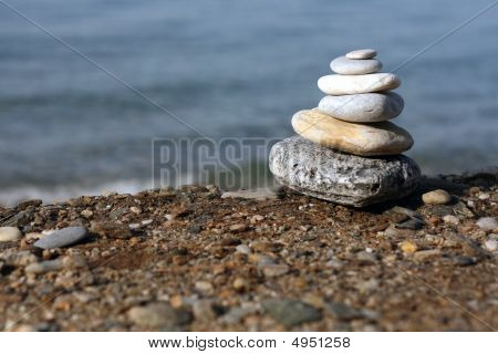 Spa Stones At The Beach
