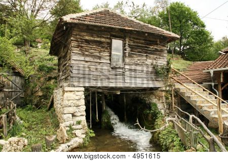 Water Mill In The Mountain