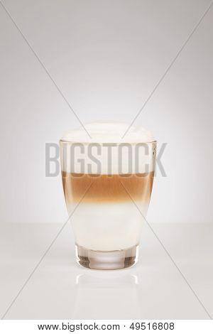 Latte Macchiato In A Small Glass