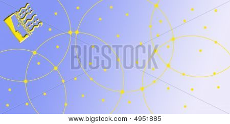 Card In Landscape Format With Sign Of The Zodiac -virgin, Virgo