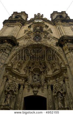 Front Facade of Chuch of coro in San Sebastian Spain poster