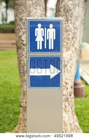 Toilet Sign In The Park