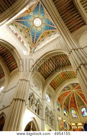 Cathedral Of Almudena In Madrid, Spain. Principal Dome