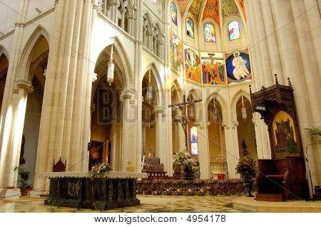 Cathedral Of Almudena In Madrid, Spain. Altar