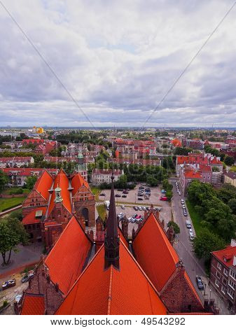 View of Gdansk and its beautiful colorful houses Poland. poster