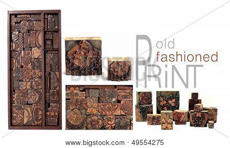 Antique Printing Blocks