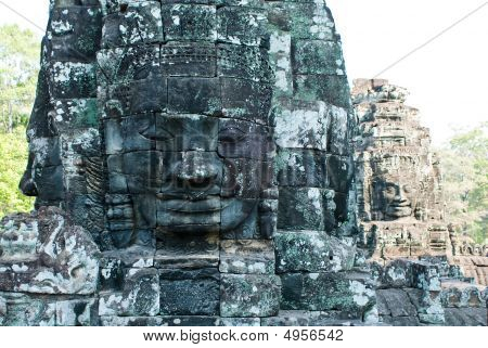 Bayon Temple Tower Faces 4