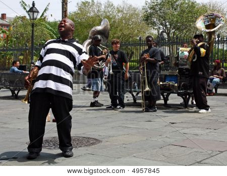 New Orleans Jazz Band Man Singing