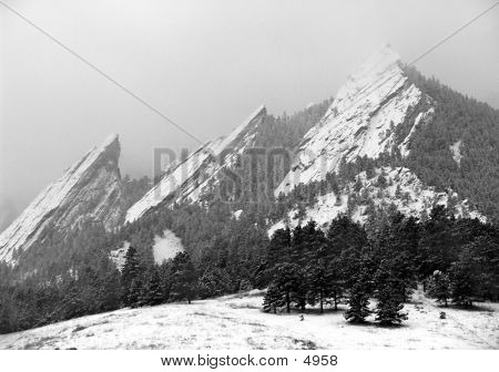 Winter Flatirons
