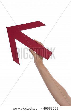 Hand Holding An Arrow