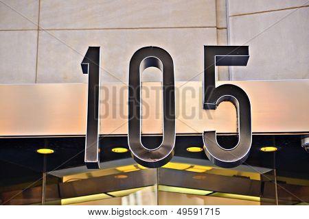 Building address number 105.