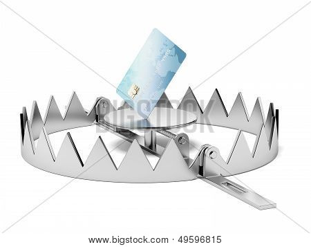 Credit card in the trap