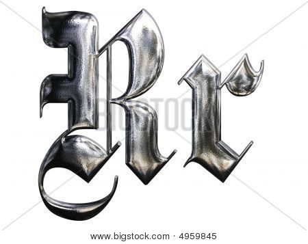 Metallic Patterned Letter Of German Gothic Alphabet Font  Letter R. Letter R Images  Stock Photos   Illustrations   Bigstock