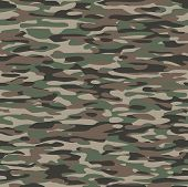 Military camouflage textile pattern to use as a tile and to make endless surfaces or backgrounds. Vector. poster