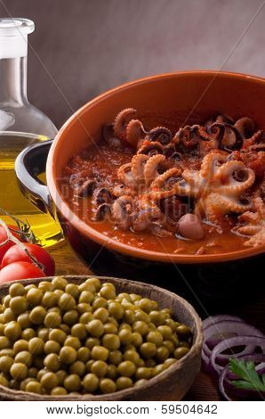 octopus in guazzetto typical italian recipe