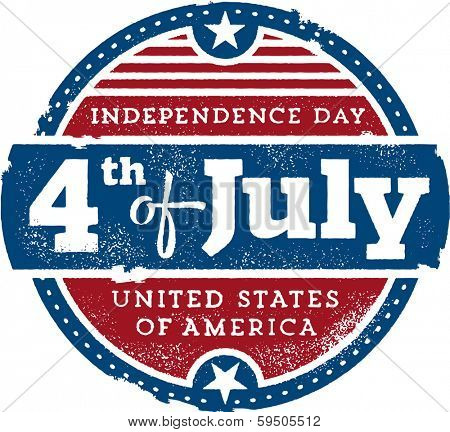 Vintage Fourth of July Independence Day USA Stamp