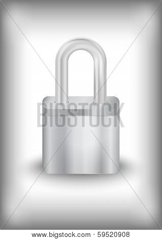 Padlock With Background